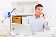 Business man working at home Royalty Free Stock Images