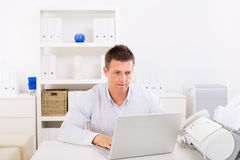 Business man working at home Royalty Free Stock Photos
