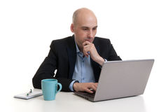 Business man working on laptop Stock Photos