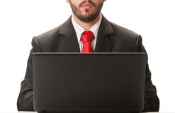 Business man working on laptop Royalty Free Stock Photo