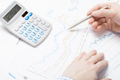 Business man working with market data Stock Photo