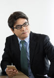 Business man working stock photography