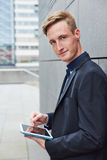 Business man working mobile Stock Photo