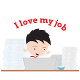 Business man working with notebook and word Stock Images