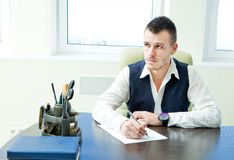 Business man working in office Stock Images