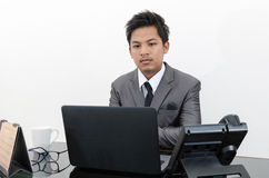 Business man working in the office.  Stock Images