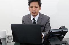 Business man working in the office.  Stock Photography