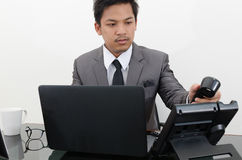 Business man working in the office.  Royalty Free Stock Images