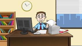 Business man working in office Royalty Free Stock Image