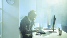 Business man working in office