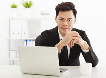 Business man working in the  office Stock Image
