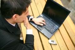 Business Man Working Outdoor Stock Photography