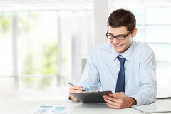 Business man while working Royalty Free Stock Photos
