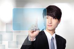 Business man working with virtual screen Royalty Free Stock Photography