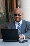 Business Man Working Wirelessly Stock Image