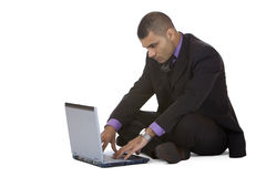 Business man works at home with computer laptop Stock Photography