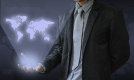 Business man. In this world there are throughout the world Royalty Free Stock Photos