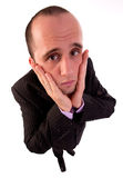 Business man worrying Royalty Free Stock Photos