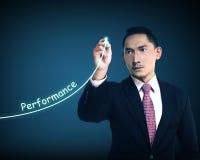 Business man write performance Stock Photography