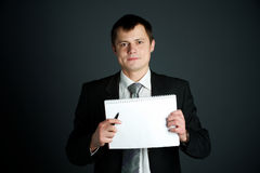 Business man writing Stock Photography