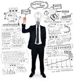 Business man writing business plan Stock Photos