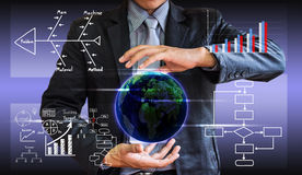 Business man writing concept of business process improve Stock Image