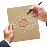 Business man writing diagram Royalty Free Stock Photos