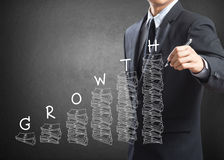 Business man writing growth concept Royalty Free Stock Image
