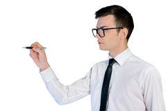 Business man writing Stock Images