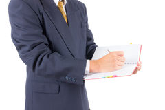 Business man writing on notebook Royalty Free Stock Photography