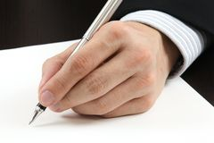 Business man writing Stock Image