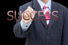 Business man writing success concept Stock Photography