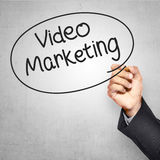 Business man writing video marketing Royalty Free Stock Photography