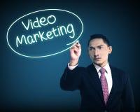 Business man writing video marketing Royalty Free Stock Photo