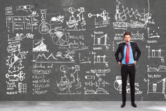Business man writing the writing concepts Stock Image