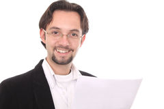 Business man writting in a notepad Royalty Free Stock Photography