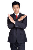 Business man Wrong be misguided suit isolated. Business man Wrong be misguided suit in isolated Royalty Free Stock Photos