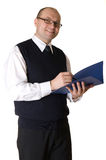 Business man wrote in the documents Stock Photos