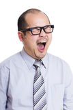 Business man yawning Stock Image