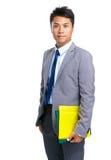 Business man with yellow folder Stock Photo