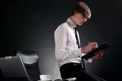 Business man young and attractive Stock Photos