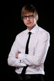 Business man young and attractive Royalty Free Stock Images