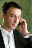 Business man. Young caucasian business man on the phone Royalty Free Stock Images