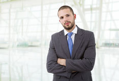 Business man. Young business man portrait at the office Stock Image