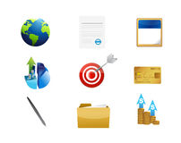 Business management concept icon set Royalty Free Stock Image