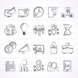 Business management concept icons. Vector icon set Royalty Free Stock Images