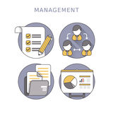 Business management concept Stock Photos