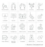 Business management conceptual icons. Royalty Free Stock Photos