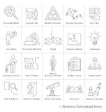Business management conceptual icons. Stock Photography