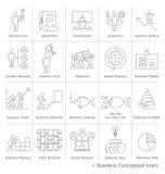 Business management conceptual icons. Stock Photo